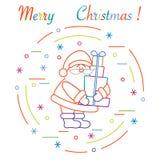 Άγιος Βασίλης με παρουσιάζει Νέα σύμβολα έτους και Χριστουγέννων ελεύθερη απεικόνιση δικαιώματος