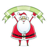 Άγιος Βασίλης με την κορδέλλα διανυσματική απεικόνιση