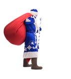Άγιος Βασίλης με την κόκκινη μεγάλη τσάντα Στοκ Φωτογραφία