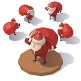 Άγιος Βασίλης με την κόκκινη τσάντα δώρων Στοκ φωτογραφία με δικαίωμα ελεύθερης χρήσης