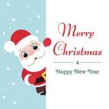 Άγιος Βασίλης με τη μεγάλη πινακίδα διανυσματική απεικόνιση