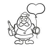 Άγιος Βασίλης με τη σαμπάνια ελεύθερη απεικόνιση δικαιώματος