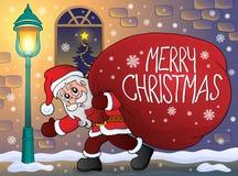 Άγιος Βασίλης με το μεγάλο θέμα 3 τσαντών δώρων ελεύθερη απεικόνιση δικαιώματος
