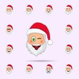 Άγιος Βασίλης πειράζει μέσα το εικονίδιο emoji r απεικόνιση αποθεμάτων