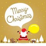 Άγιος Βασίλης που πηδά Snowdrift στην πόλη ελεύθερη απεικόνιση δικαιώματος