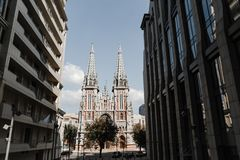 Άγιος Βασίλης Ρωμαίος - καθολικός καθεδρικός ναός, Κίεβο στοκ φωτογραφία με δικαίωμα ελεύθερης χρήσης