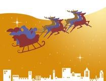 Άγιος Βασίλης στο έλκηθρό του Στοκ εικόνες με δικαίωμα ελεύθερης χρήσης