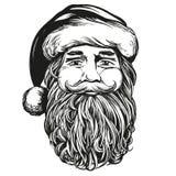 Άγιος Βασίλης, συρμένο διανυσματικό σκίτσο απεικόνισης συμβόλων Χριστουγέννων χέρι απεικόνιση αποθεμάτων