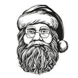 Άγιος Βασίλης, συρμένο διανυσματικό σκίτσο απεικόνισης συμβόλων Χριστουγέννων χέρι ελεύθερη απεικόνιση δικαιώματος