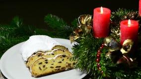Άγιος Βασίλης, το στεφάνι εμφάνισης και τα γερμανικά Χριστούγεννα απόθεμα βίντεο