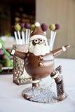 Άγιος Βασίλης έκανε τη σοκολάτα Στοκ Φωτογραφία
