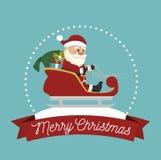Άγιος Βασίλης απομονωμένο στο μεταφορά σχέδιο εικονιδίων Στοκ Φωτογραφία