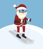 Άγιος Βασίλης απομόνωσε το σχέδιο εικονιδίων Στοκ εικόνες με δικαίωμα ελεύθερης χρήσης