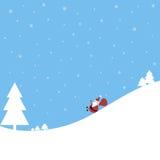 Άγιος Βασίλης αστείος Στοκ Φωτογραφία