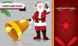 Άγιος Βασίλης - θέμα Χαρούμενα Χριστούγεννας Στοκ φωτογραφία με δικαίωμα ελεύθερης χρήσης