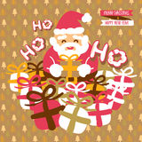 Άγιος Βασίλης, κάρτα Χριστουγέννων Στοκ Φωτογραφίες