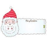 Άγιος Βασίλης και έμβλημα Χριστουγέννων Στοκ εικόνα με δικαίωμα ελεύθερης χρήσης