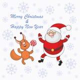 Άγιος Βασίλης και σκίουρος Στοκ εικόνα με δικαίωμα ελεύθερης χρήσης