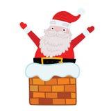 Άγιος Βασίλης κόλλησε στην καπνοδόχο. Στοκ εικόνα με δικαίωμα ελεύθερης χρήσης