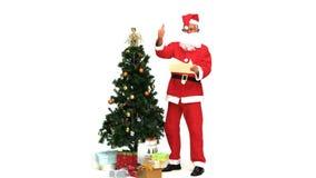 Άγιος Βασίλης με παρουσιάζει απόθεμα βίντεο