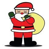 Άγιος Βασίλης με την τσάντα απομονώνει το υπόβαθρο Στοκ Εικόνα