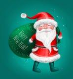Άγιος Βασίλης με την τσάντα, καλή χρονιά Στοκ Εικόνα