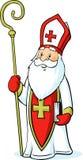 Άγιος Βασίλης που απομονώνεται στο άσπρο υπόβαθρο - διάνυσμα διανυσματική απεικόνιση