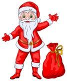 Άγιος Βασίλης που επιθυμεί τα Χριστούγεννα και το νέο έτος Στοκ φωτογραφία με δικαίωμα ελεύθερης χρήσης