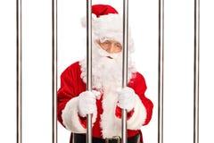 Άγιος Βασίλης που στέκεται σε μια φυλακή Στοκ Εικόνες