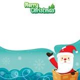 Άγιος Βασίλης στην καπνοδόχο απεικόνιση αποθεμάτων