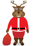 Άγιος Βασίλης στη μάσκα ελαφιών Χριστουγέννων Απεικόνιση αποθεμάτων