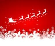 Άγιος Βασίλης στους γύρους ελκήθρων ελεύθερη απεικόνιση δικαιώματος