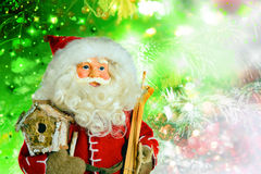 Άγιος Βασίλης στο υπόβαθρο Χριστουγέννων στοκ φωτογραφία με δικαίωμα ελεύθερης χρήσης