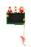 Άγιος Βασίλης, χιονάνθρωπος και άγγελος Στοκ Φωτογραφία