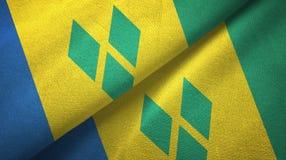 Άγιος Βικέντιος και Γρεναδίνες και Άγιος Βικέντιος και Γρεναδίνες δύο σημαίες ελεύθερη απεικόνιση δικαιώματος