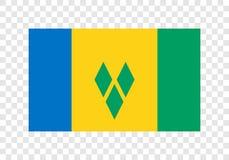 Άγιος Βικέντιος και Γρεναδίνες - εθνική σημαία διανυσματική απεικόνιση