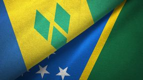 Άγιος Βικέντιος και Γρεναδίνες και νήσοι του Σολομώντος δύο σημαίες διανυσματική απεικόνιση
