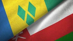 Άγιος Βικέντιος και Γρεναδίνες και Ομάν δύο σημαίες ελεύθερη απεικόνιση δικαιώματος