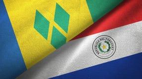 Άγιος Βικέντιος και Γρεναδίνες και Παραγουάη δύο σημαίες ελεύθερη απεικόνιση δικαιώματος