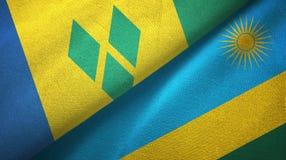 Άγιος Βικέντιος και Γρεναδίνες και Ρουάντα δύο σημαίες απεικόνιση αποθεμάτων