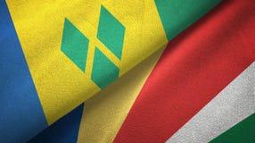 Άγιος Βικέντιος και Γρεναδίνες και Σεϋχέλλες δύο σημαίες απεικόνιση αποθεμάτων