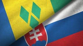 Άγιος Βικέντιος και Γρεναδίνες και Σλοβακία δύο σημαίες ελεύθερη απεικόνιση δικαιώματος