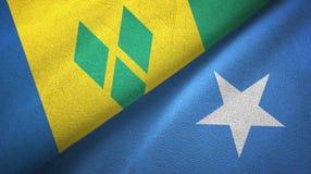Άγιος Βικέντιος και Γρεναδίνες και Σομαλία δύο σημαίες ελεύθερη απεικόνιση δικαιώματος