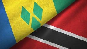Άγιος Βικέντιος και Γρεναδίνες και Τρινιδάδ και Τομπάγκο δύο σημαίες ελεύθερη απεικόνιση δικαιώματος