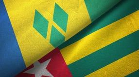 Άγιος Βικέντιος και Γρεναδίνες και Τόγκο δύο σημαίες απεικόνιση αποθεμάτων