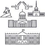 Άγιος διανυσματικό εικονίδιο γραμμών της Πετρούπολης, Ρωσία, σημάδι, απεικόνιση στο υπόβαθρο, editable κτυπήματα διανυσματική απεικόνιση