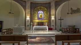 Άγιος Μαρία της εκκλησίας Rotonda στην όμορφη πόλη Albano Laziale timelapse hyperlapse, Ιταλία απόθεμα βίντεο
