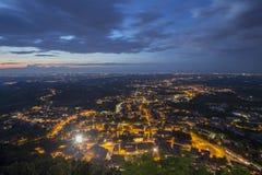 Άγιος Μαρίνος, άποψη από το Monte Titano Στοκ Εικόνες