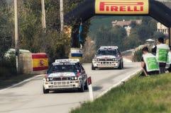 Άγιος Μαρίνος στις 21 Οκτωβρίου 2017 - διπλό του δέλτα integrale HF της Lancia στη συνάθροιση ο μύθος Στοκ Εικόνα