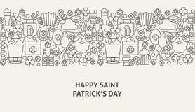 Άγιος Πάτρικ Day Banner Concept ελεύθερη απεικόνιση δικαιώματος
